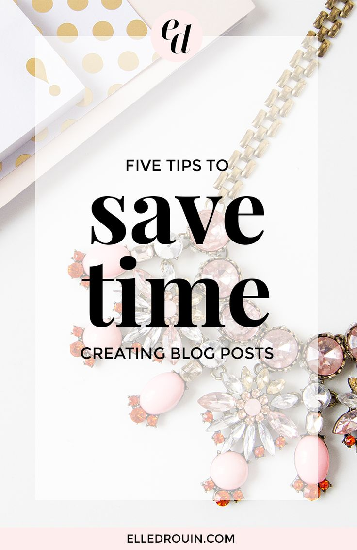 5 tips to save time creating blog posts - because being busy isn't an excuse! Learn how batching + other strategies can make blogging easier. #blogging #blogstrategy #blogger