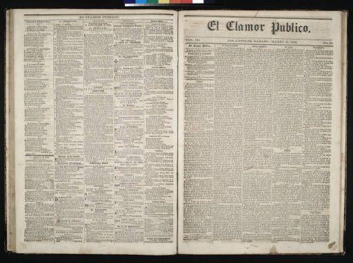El Clamor Publico, vol. III, no. 39, Marzo 27 de 1858 :: El Clamor Publico Collection, 1855-1859