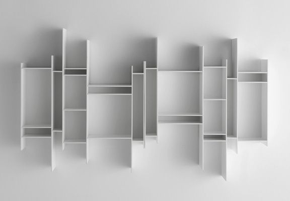 """Random box"" shelf by designers Eva Paster and Michael Geldmacher of Neuland - www.neuland-id.de. Sold through MDF Italia for what is likely a lot of money 