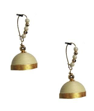 Dsignstudioo Sandal Hanging Quilled Jhumkas: Buy Online @ Rs.330 /- on Snapdeal | Item No.: 198235539