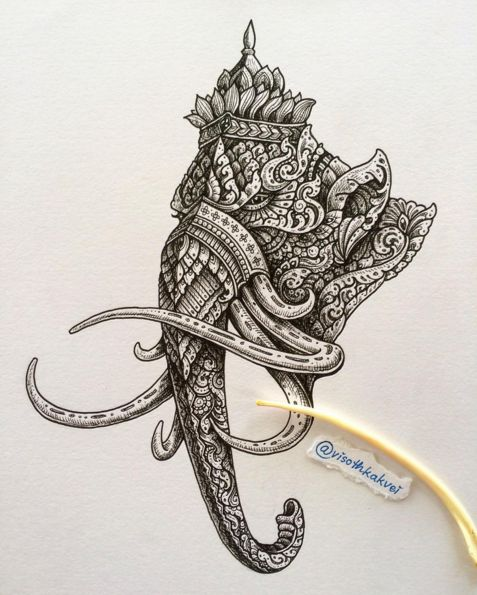 A Cambodian Artist's Intricate Ink