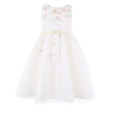 Monsoon Girls White Cherry Blossom Dress