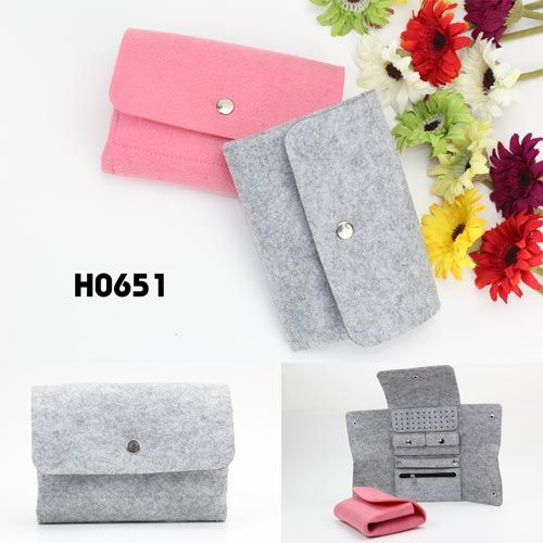 2014 New Design Foldaway Felt Jewellery Organizer Bag, grey and pink, which one is your favorite?