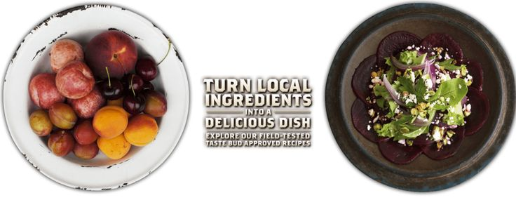 Get inspired by our delicious recipes and stay indoors and cook up a local feast!