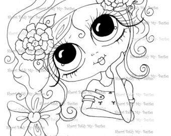 38 best face coloring images on Pinterest Big eyes Digi stamps