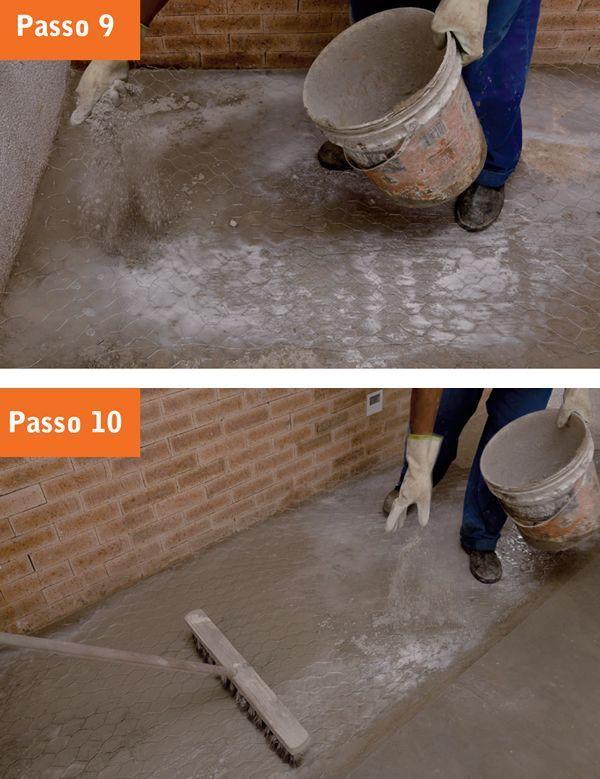 Passo a passo do Piso de Cimento Queimado - Step 9/10