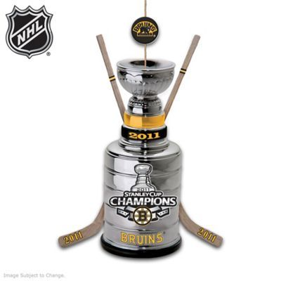 Celebrate the Boston Bruins historic win with this chrome-plated collectible, officially licensed by the NHL! Shop Now!