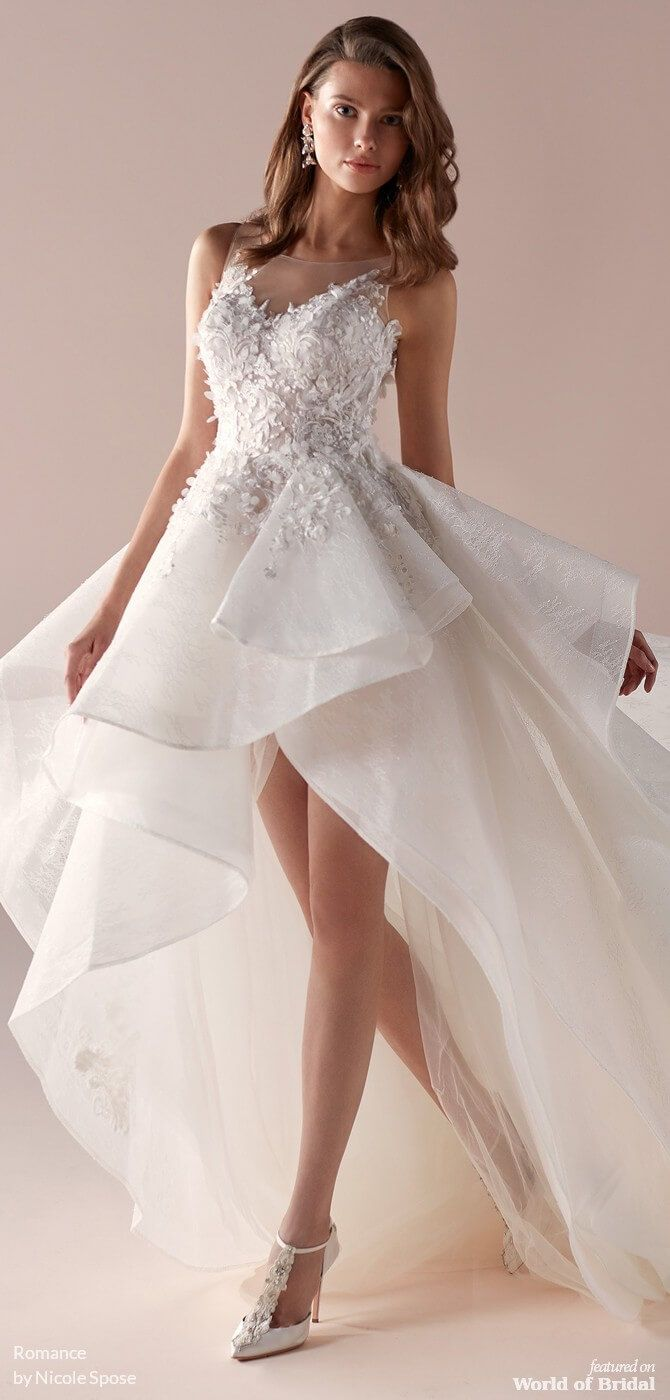 Romance By Nicole Spose 2019 Bridal Collection World Of Bridal Wedding Dresses Short Wedding Dress Short Wedding Gowns
