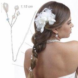 Forcine a rametto con perle e cristalli per acconciatura comunione, cresima CONF. 1 PEZZO