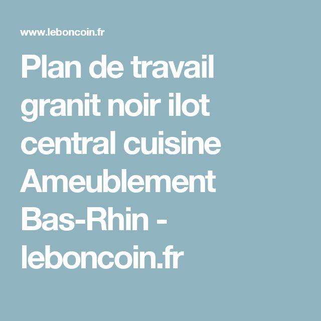 Plan de travail granit noir ilot central cuisine Ameublement Bas-Rhin - leboncoin.fr