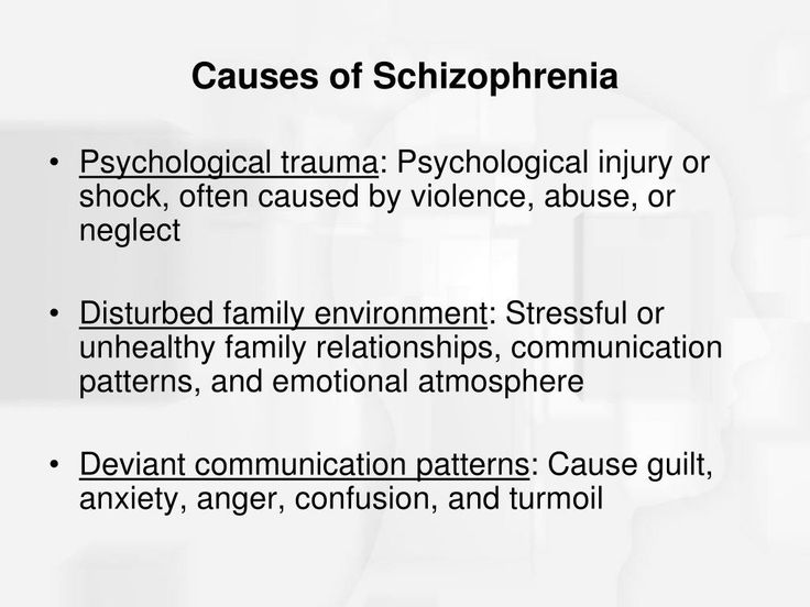 theory of biological causes of schizophrenia Discover what causes schizophrenia and the genetic and environmental risk factors that contribute to the development of schizophrenia.