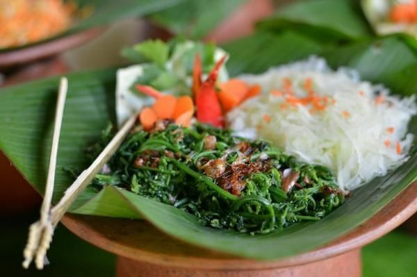 Traditional Salad at Bamboo Forest Restaurant, WakaLandCruise, Tabanan, Bali - Indonesia