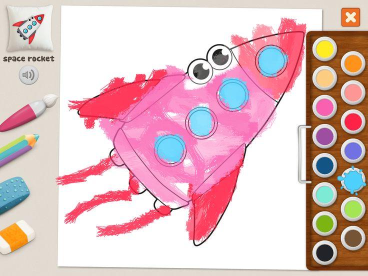 """space rocket"" #coloring #pages #memollow - #app for #kids"