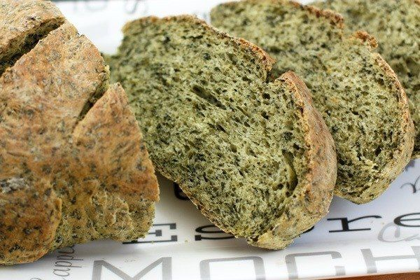 Шпинатный хлеб в хлебопечке