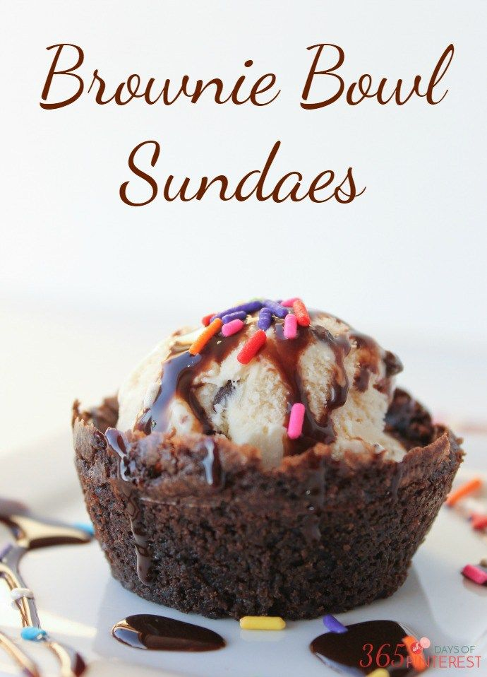 Family movie night is easy with these simple brownie bowls and an inspiring…