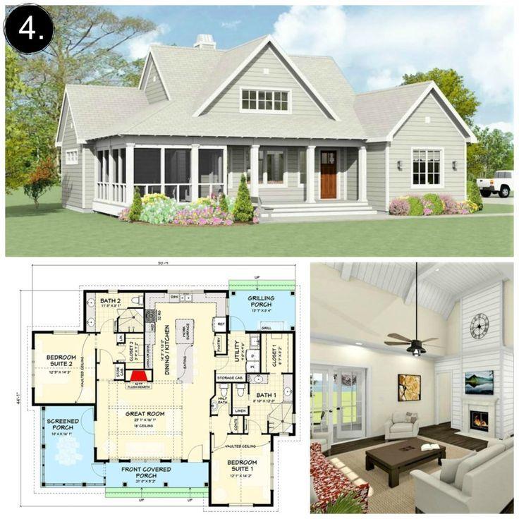 10 Floor Plans Under 2 000 Sq Ft Gorgeous Farmhouse Floorplans Under 2 000 Square Feet Loving Floor Plans Modern Farmhouse Floorplan Modern Farmhouse Floors