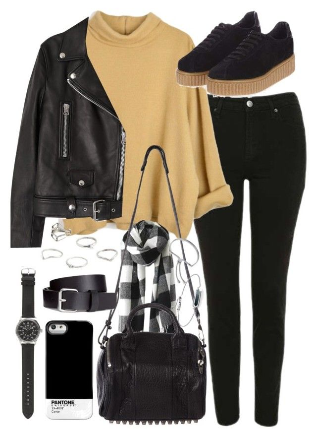 """""""outfit for a causal day with topshop creepers"""" by ferned ❤ liked on Polyvore featuring Topshop, Acne Studios, Alexander Wang, Case Scenario, J.Crew, H&M, MANGO and Monica Vinader"""