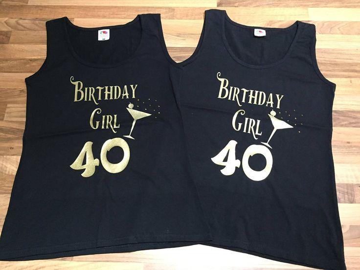 40th birthday tshirt, 40th birthday top, 40th birthday, 50th birthday t-shirt, 50th birthday, 40th birthday gift, 50th birthday gift, 40th by personaliseddiamante on Etsy