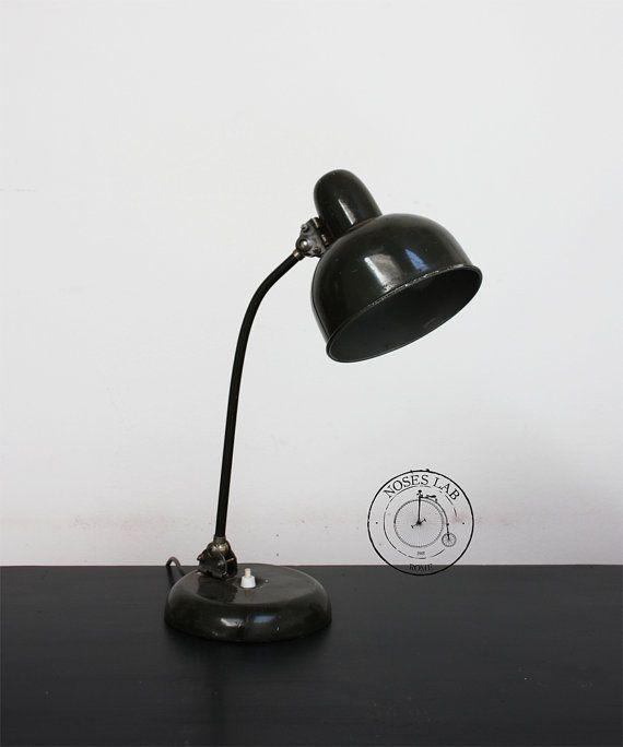 Lampada da tavolo industriale originale, Made in France | Factory Lamp #industriallamp #tablelamp