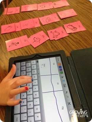 Write and Read sorts on ipad using Educreations app (make sure you get parent…