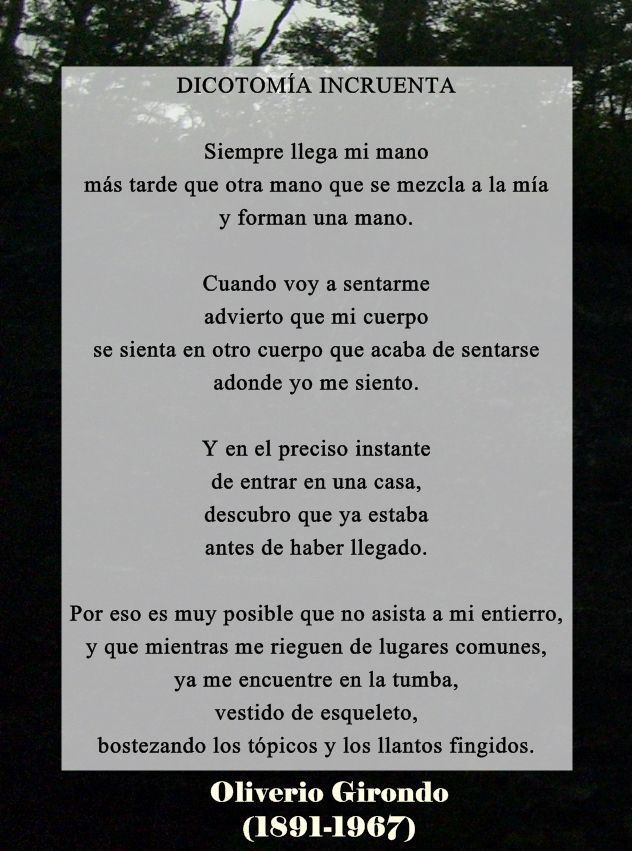 Poema de Oliverio Girondo #Frase #Poesia #Poema #Girondo