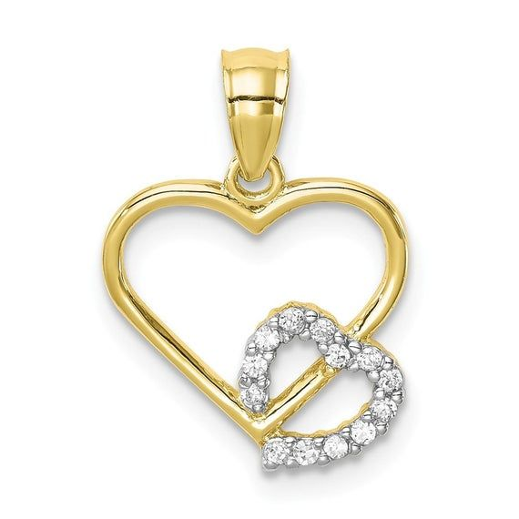 10k Yellow Gold Heart Charm Charms for Bracelets and Necklaces