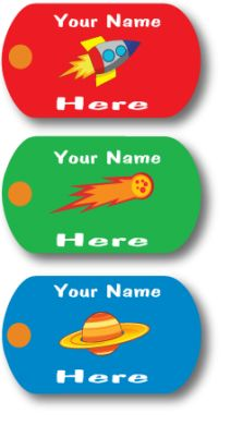 Custom Mini-Metal Tags - You\'re Out of This World