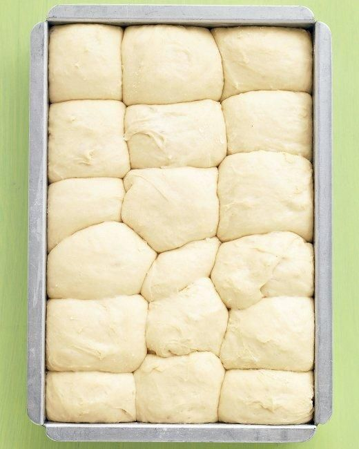 No-Knead Dinner Rolls: Even beginner-level bakers will have no trouble making these fluffy rolls; the dough can be prepped, put in the pan, and chilled up to a day ahead.