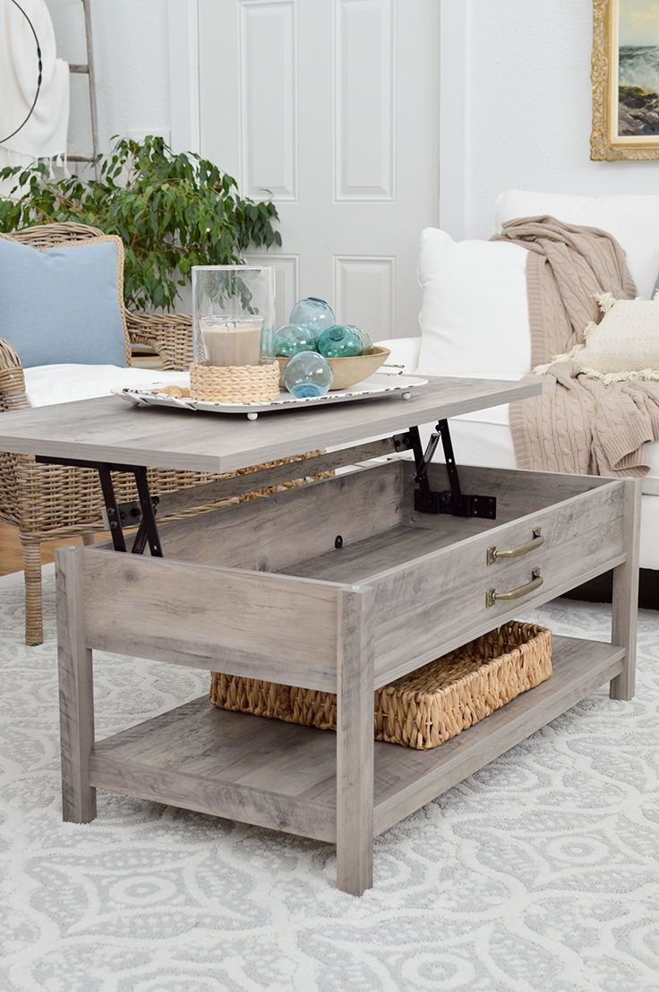 Better Homes Gardens Modern Farmhouse Lift Top Coffee Table Rustic Gray Finish Walmart Com Farmhouse Decor Living Room Living Room Diy Farm House Living Room