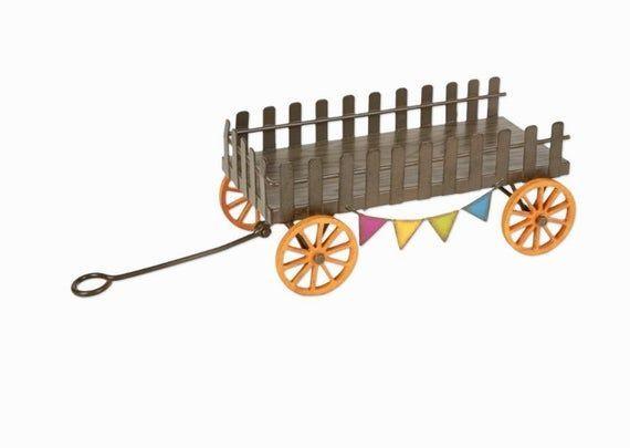 Dollhouse Miniature, Fairy Garden, Metal Farm Wagon. 1:12 Scale#dollhouse #fairy #farm #garden #metal #miniature #scale…