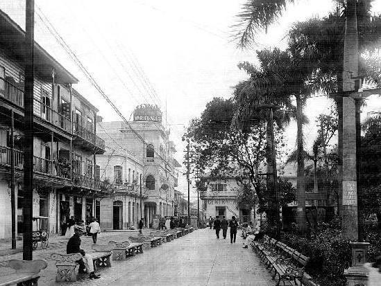 Panama City, 1886 - the year my grandfather Carlos Ortiz Romero was born.