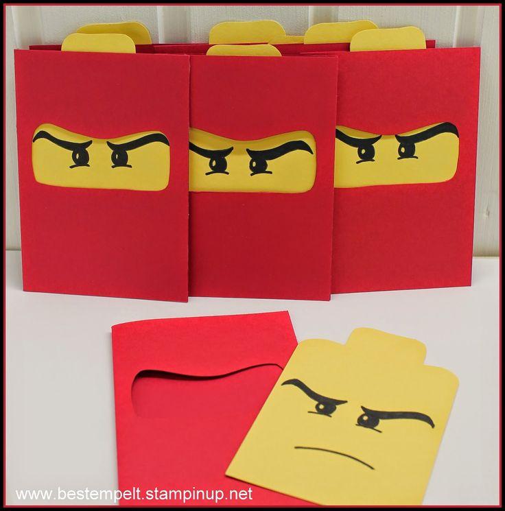 Lego Ninja Kindergeburtstag Einladungskarten selber machen *** DIY Lego Ninja Kids Birthday Party Cards