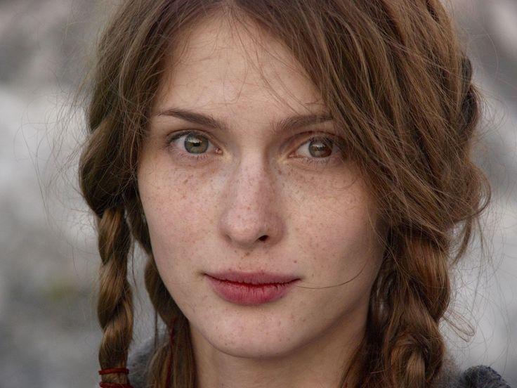 women close-up eyes actress freckles faces Svetlana Ivanova Russians  /