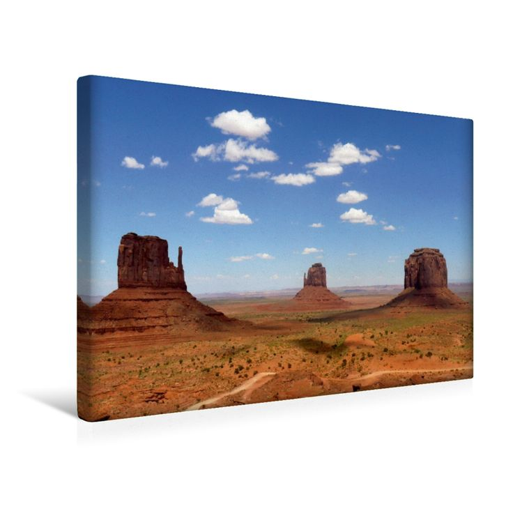 Wildcat Trail im Monument Valley (Premium Foto-Leinwand 45x30 cm)