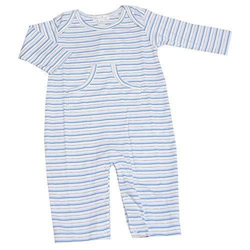 Kissy Kissy Baby Kissy Essentials Stripe Playsuit, Multi Stripe Blue, 6-9 Months