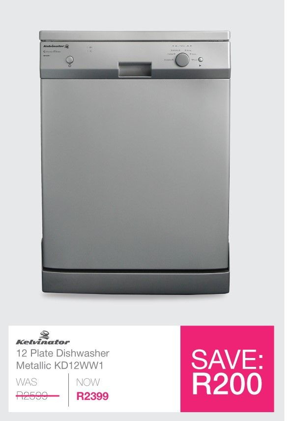 Get the #Kelvinator 12 Place Metallic #Dishwasher now on sale at #savehyperonline. Shop now @ http://savehyperonline.co.za/kelvinator-kd12mm1-12-place-dishwasher