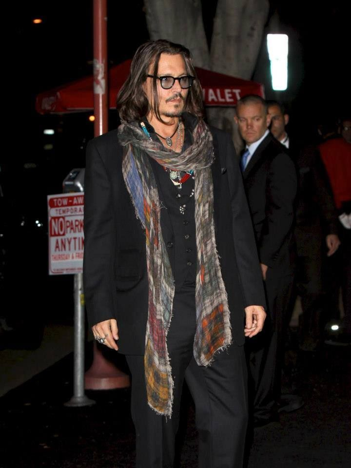 Johnny Depp was the birthday party of 50 years of the filmmaker David Furnish's in at the belasco, in Los Angeles. (25-1-2 o12)