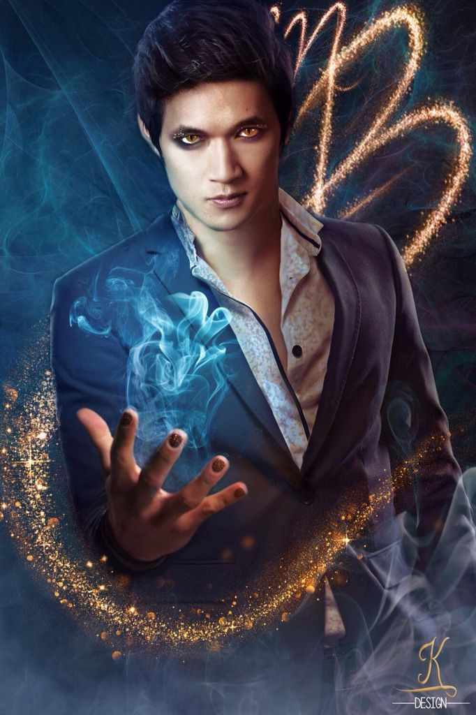 Harry Shum Jr Magnus Bane edit by K Design! This person is so good at edits ahh!!!! This is perfect! The cat eyes! The glitter! The face! The blue sparks coming from his hands! Ahhhhh!!!! #ShadowhuntersTV