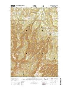 ~ Half Moon Canyon MT topo map, 1:24000 scale, 7.5 X 7.5 Minute, Current, 2014