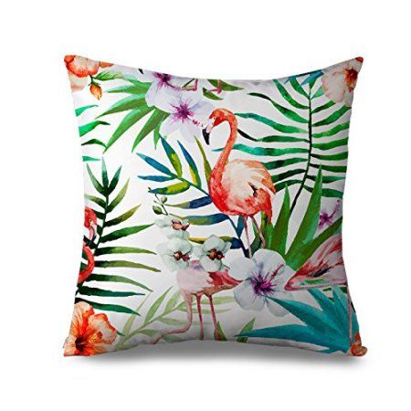 Buy Fabricmcc Outdoor Flamingo Pillow Covers Decorative Cheap Pillowcase with Zipper Canvas Square Pillow Case Accent Cushion Throw Pillow Covers 18 x 18 at Walmart.com