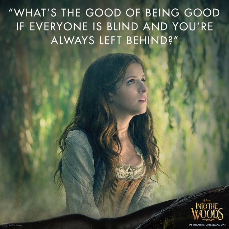 """""""Mother said be good, father said be nice."""" #IntoTheWoods"""