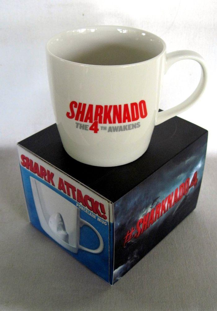 Sharknado 4 RARE Collectible Shark Attack Mug NEW in Box SYFY!