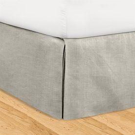 Veratex Huys Gray California King 16-In Bed Skirt 601804