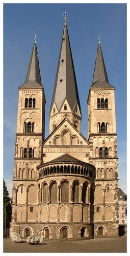 Basilica - Bonn, Germany-I spent a week in Bonn in 1990 with the German Marshall Fund Teacher Exchange.  It was still the capital of West Germany for a few months more.