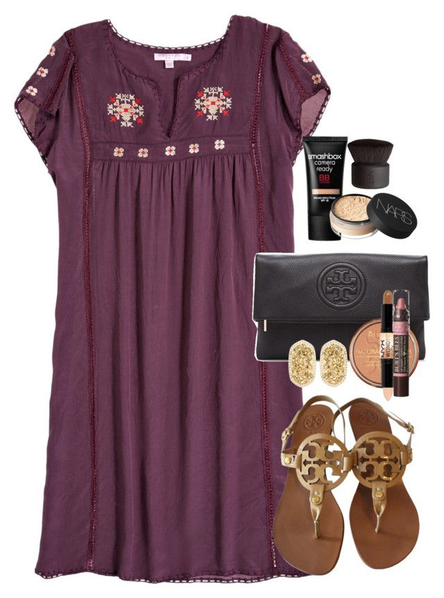 """""""It was so beautiful today! Tomorrow going to an exclusive backstage tour!"""" by ambermillard ❤ liked on Polyvore featuring Calypso St. Barth, Tory Burch, Rimmel, NYX, Burt's Bees, Kendra Scott, Smashbox, NARS Cosmetics, women's clothing and women"""