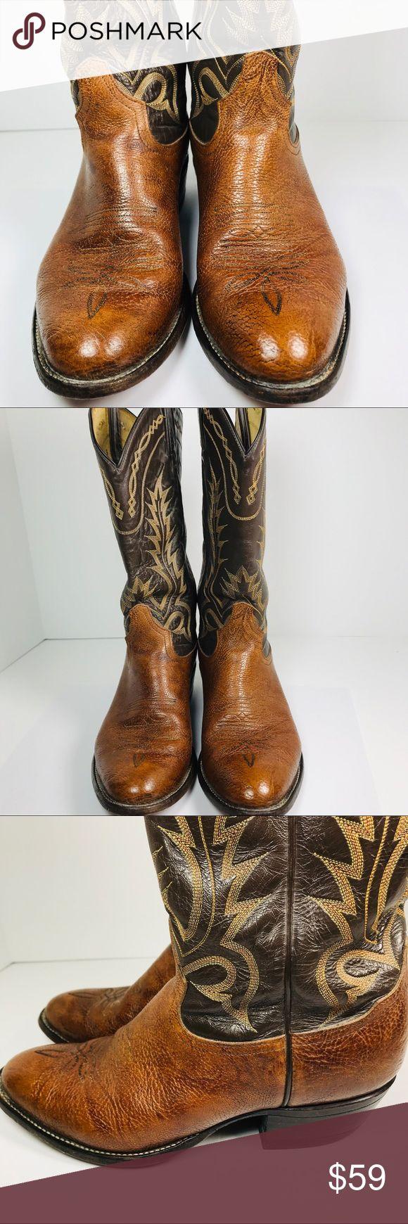 d954a4872ee Tony Lama boots Aztec size 8EE western cowboy MENS Light