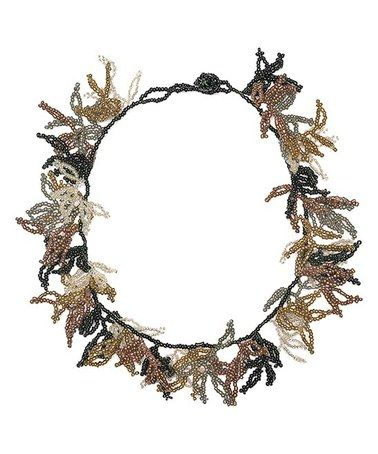 Goldtone & Black Bead-Tassel Statement Necklace #zulily #zulilyfinds