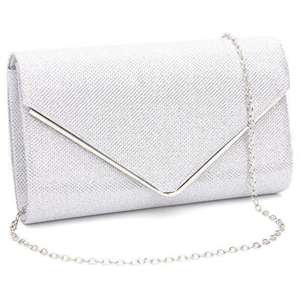 Medium Envelope Ladies Faux Patent Leather Clutch Bag Women Evening Bridal Party