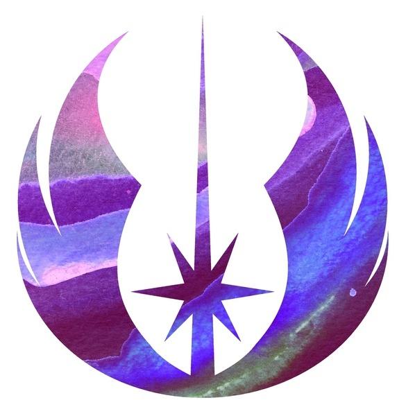 Star Wars Jedi Symbol in Blue Art Print