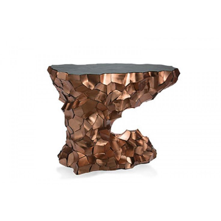 Tables : Mammoth Leg Copper Side Table